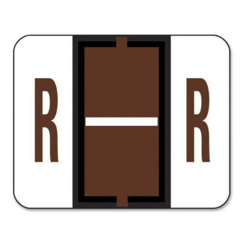 Smead BCCR Bar-Style Color-Coded Alphabetic Label 500 lab Label Roll Brown R