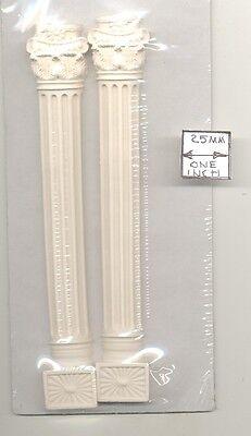 HALF ROUND COLUMN SET  UMCO2 polyresin dollhouse miniature 1//12 scale