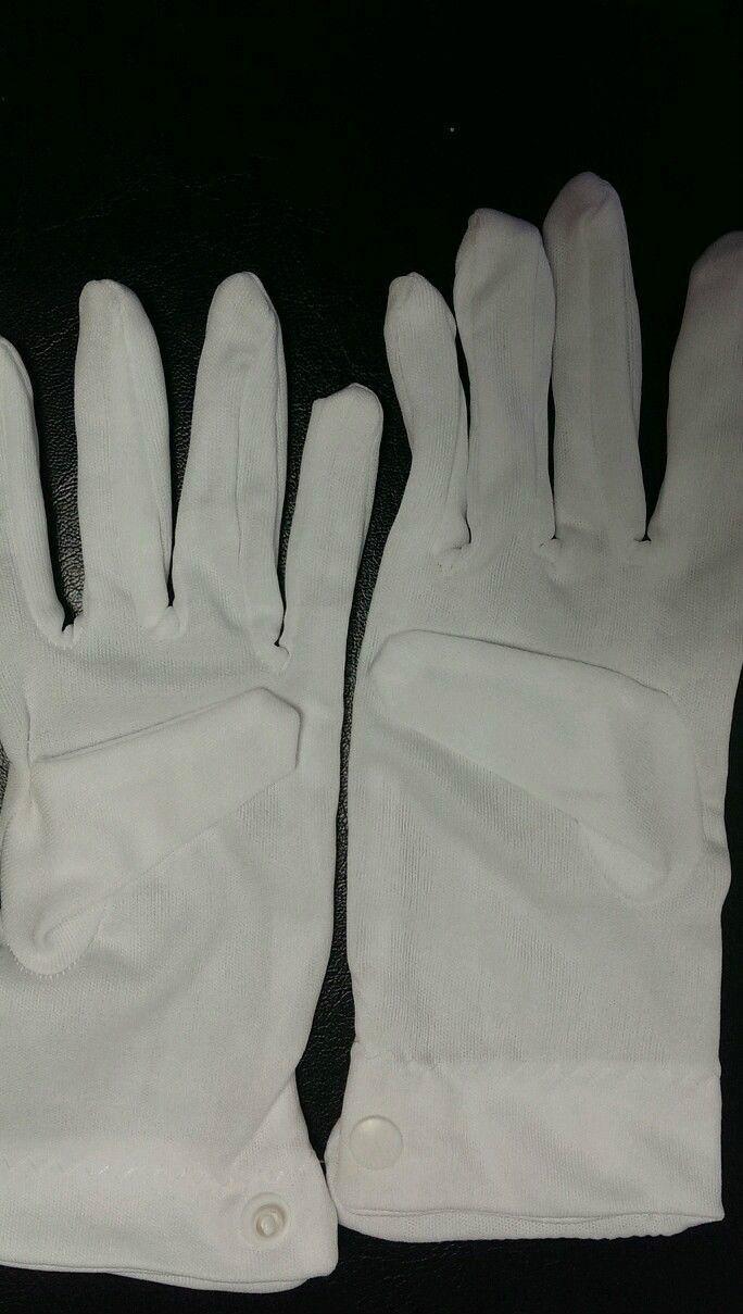 Women White Parade Dress Pair Gloves w// Snap Wrist Closure Buy 1 get 1 Free!!!