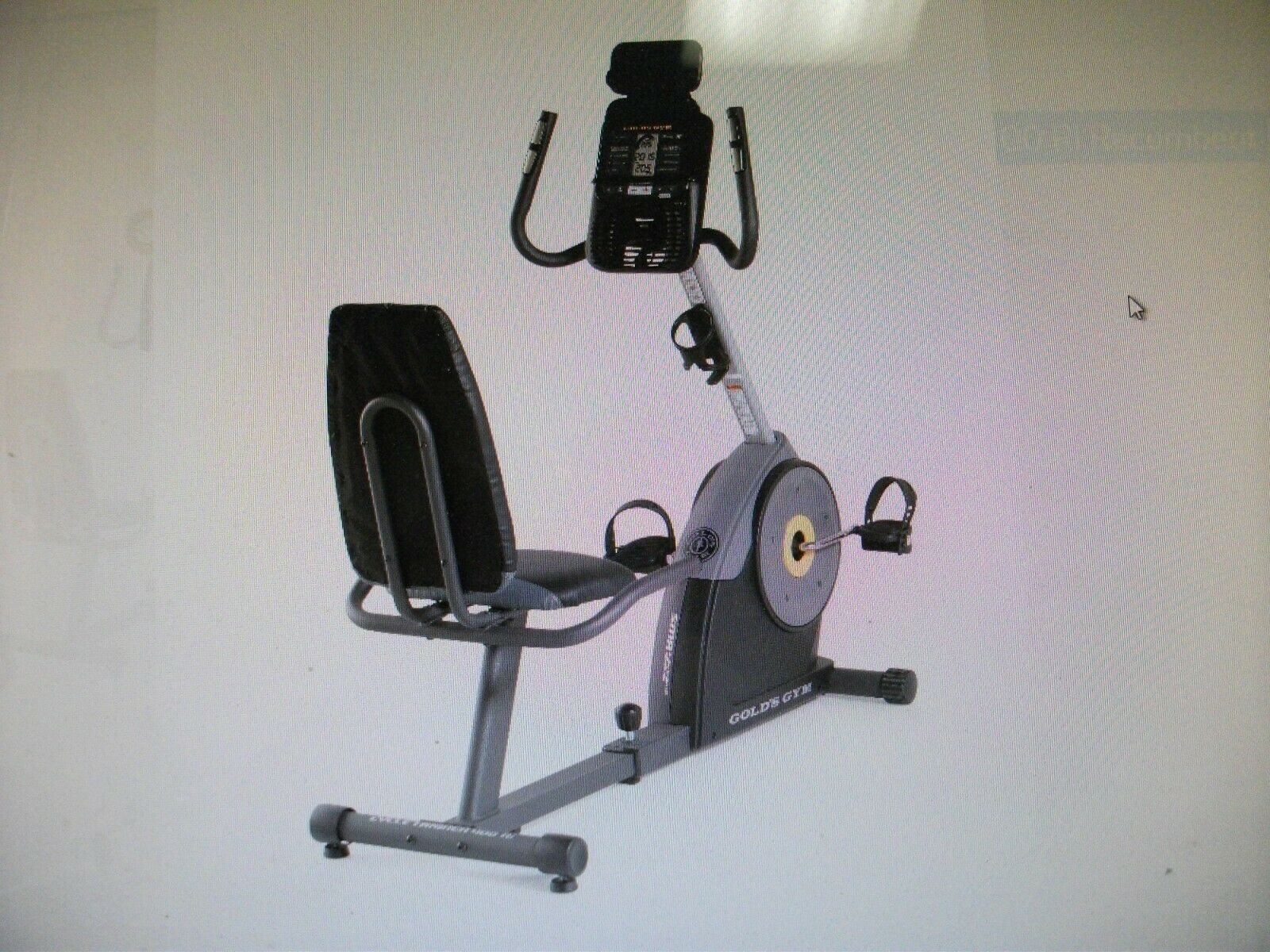Gold's Gym Cycle Trainer 400 Ri Recumbent Exercise Bike - Local pick up in NJ bike cycle exercise gym local pick recumbent trainer