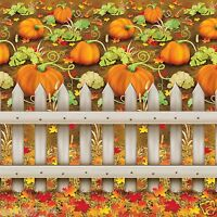 Fall Autumn Thanksgiving Party Decoration Pumpkin Patch Backdrop Photo Prop