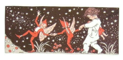 Elf Retro Iron on Patches Patch Fairy Art Black Stars Vintage Baby Fabric DIY