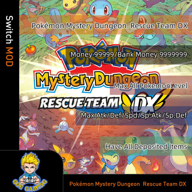 Pokémon Mystery Dungeon: Rescue Team DX  (Switch Mod) Game is not included!!!