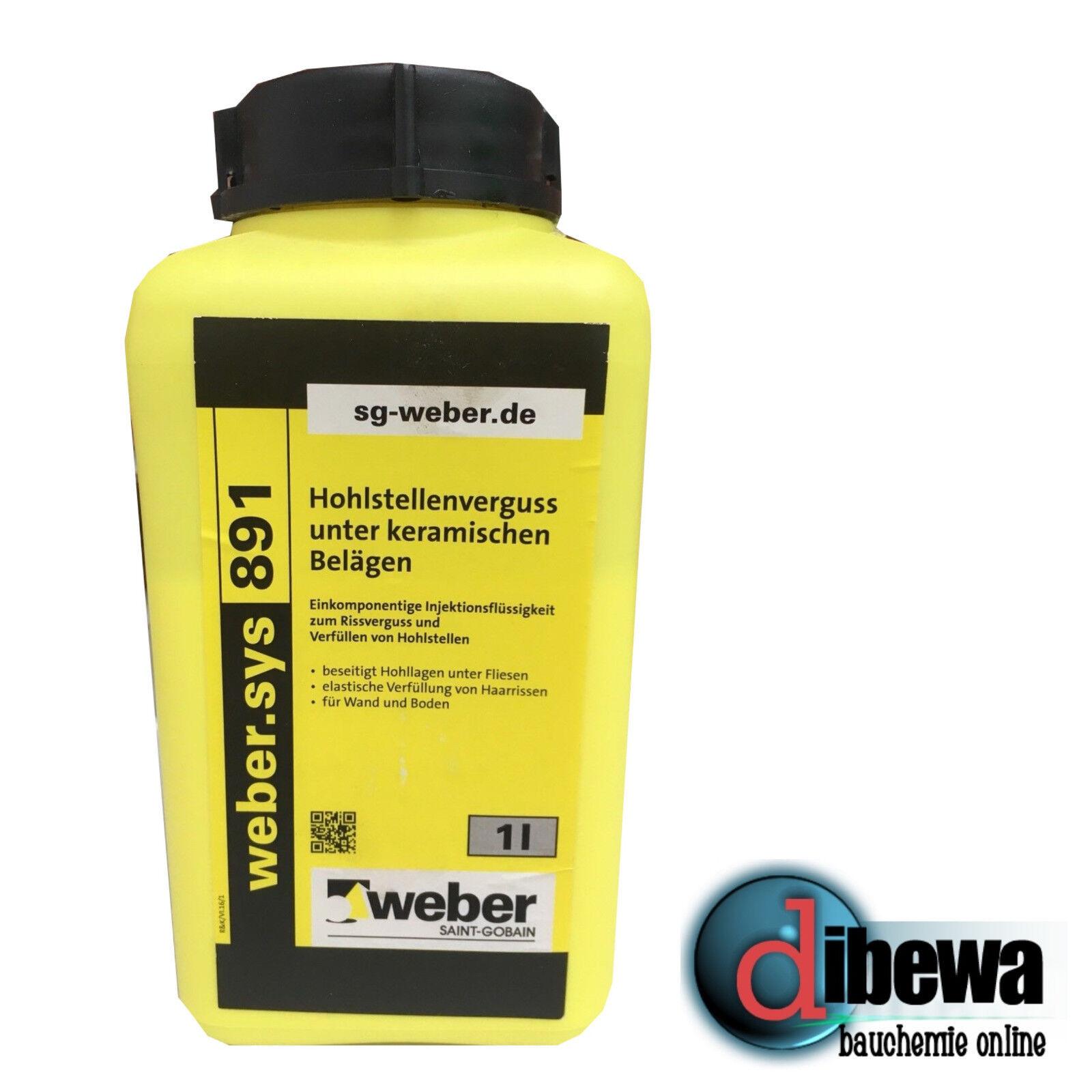 1 Liter weber.sys 891 Hohlraumverguß Rissverguss Hohlstellenverguss Schlämme