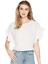 miniature 1 - JOIE Febronia Ruffle Sleeve Top White Size M 84958