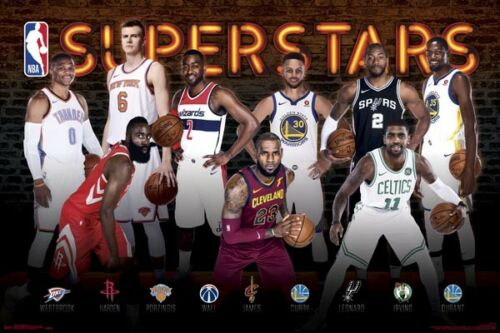 Superstars 2017 POSTER 61x91cm NEW Lebron James Harden Durant Curry Irving NBA