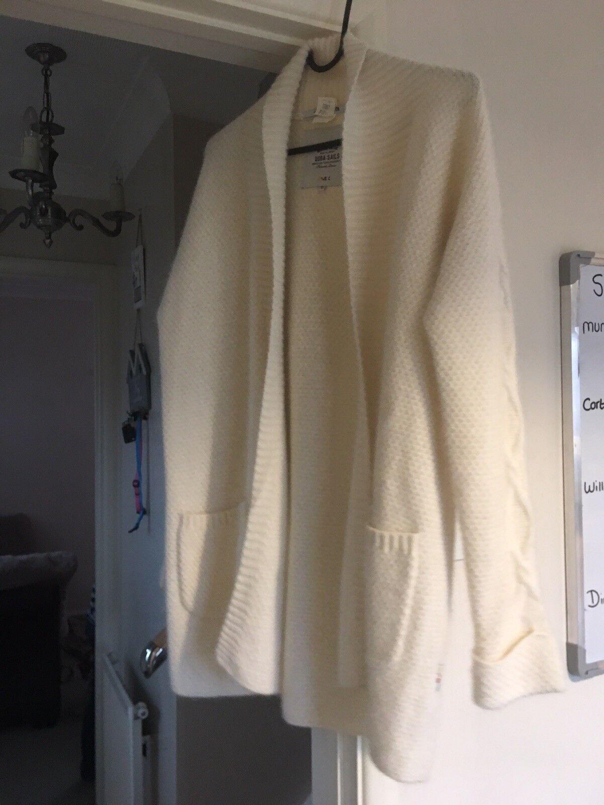 Quba Cream Cardigan Size 12