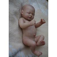 "10"" Reborn Baby Doll Kit Full Limbs Soft Vinyl DIY Unpainted Doll Girl / Boy NEW"