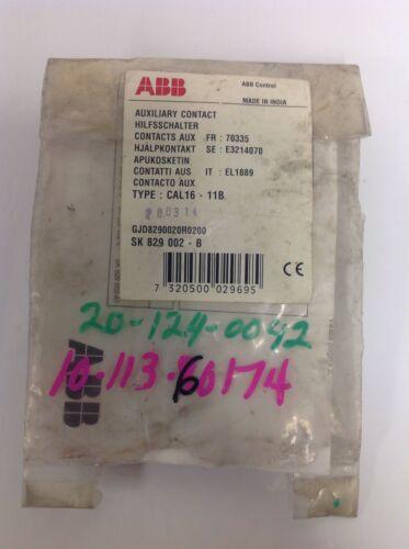 AUXILIARY CONTACT NIB SK 829 002-B *PZB* CAL16-11B ABB