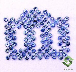 Natural Blue Sapphire Round Diamond Cut 2 mm Lot 50 Pcs Loose Gemstones