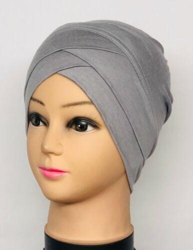 Les femmes musulmanes Extensible Turban Chapeau chimio Cap perte de cheveux tête écharpe Wrap Cover Plain