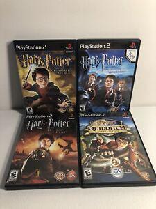 Harry-Potter-PS2-Games-Lot-Of-4-Prisoner-Azkaban-Chamber-Goblet-Fire-Quidditch