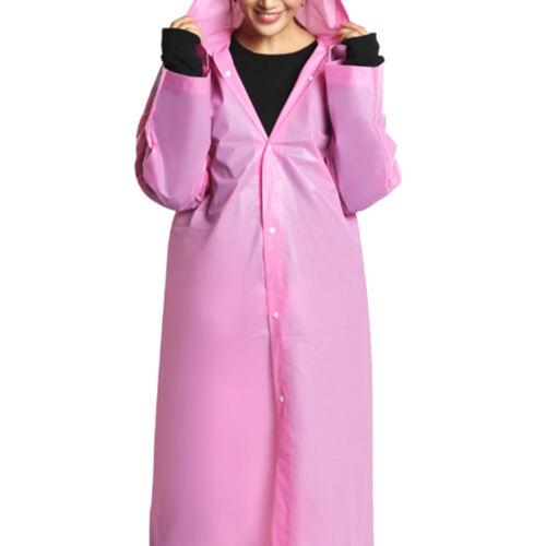 6 Farben Unisex Regenmantel Regencape Regenjacke Mit Kapuze Regenkleidung Damen