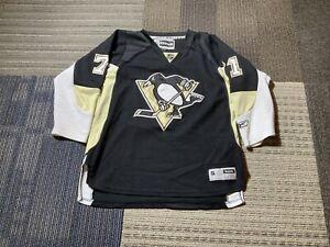 Evgeni-Malkin-Pittsburgh-Penguins-Reebok-Youth-L-XL-Black-Sewn-Jersey