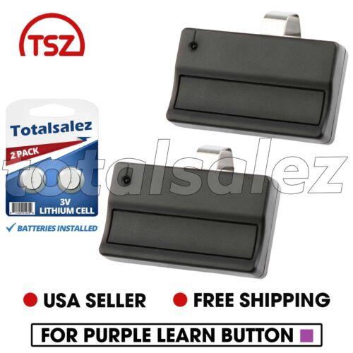2 Pour Sears Craftsman 139.53753 1 bouton porte de garage Télécommande 315 MHz 371 LM