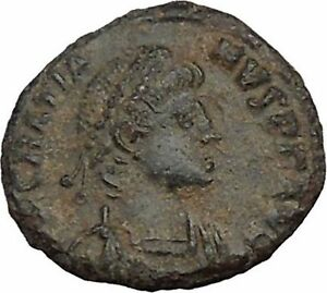 GRATIAN-378AD-Authentic-Ancient-Roman-Coin-WREATH-of-success-i35632