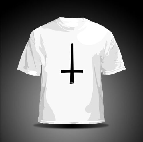 """Eaks ® T-Shirt Hommes /""""Gothic Cross/"""" blanc OGAM Croix Death-Metal Punk"""