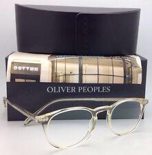 New OLIVER PEOPLES Eyeglasses Riley R BECR OV 5004 1014 47-20 Clear / Buff Frame