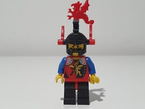 LEGO DRAGON KNIGHTS BLACK RED LEGS BLACK DRAGON HELMET RED PLUMES cas017a ~ 6076