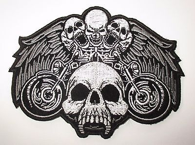 Men/'s Shed Rider biker Motorcycle Bobber Chopper Eagle Silver Patch Sew//Iron