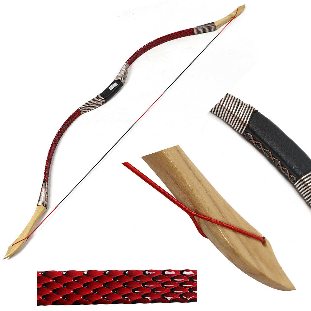 Traditional 30lbs Archery Hunting 49  Recurve Bow Longbow Target Left Right Hand