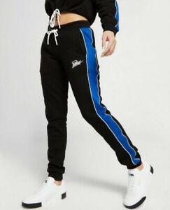 Details zu Puma Jogginghose mit blauen Seitenstreifen, Damen, Größe 36