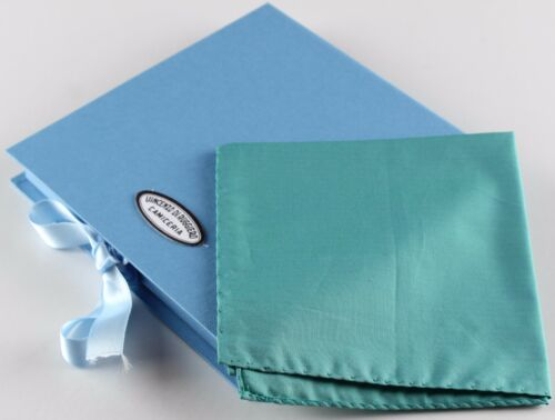 NWT VINCENZO DI RUGGIERO SQUARE POCKET pochette cotton green handmade Italy