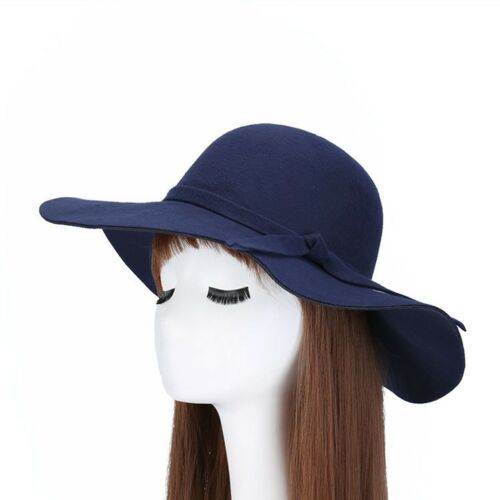Women Wide Brim Big Sunhat Summer Straw Hat Floppy Derby Beach Foldable Cap XES