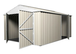 Garage-Shed-Workshop-3-5m-x-5-1m-x-2-3m-with-Double-Barn-Door