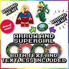 ! nuevo! Flecha y Supergirl Lego Pegatinas de base Dimensiones-tanto texto y sin diálogo