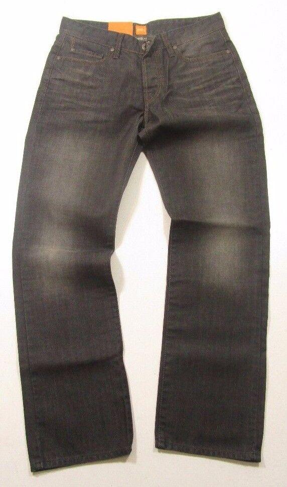 c6de302a1a14 Hugo Boss orange Label Regular Fit orange 25 Dark Wash Button Fly Jeans