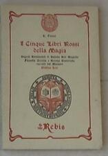 23460 I Cinque Libri Rossi Della Magia H. Flamel