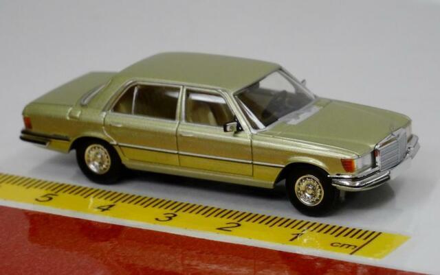 Brekina Starmada: Mercedes 450SEL 13155 silber grün metallic W 116