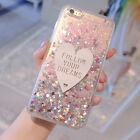Cute 3d Love Bling Dynamic Liquid Glitter Case Cover for iPhone 6/6S/7/7 Plus