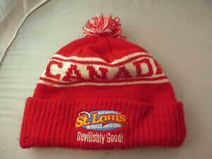 Canada St Louis Bar & Grill Beanie Hat Toque Cap red Devilishly Good