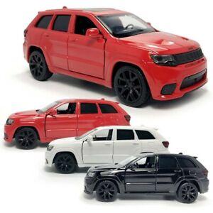 Regalo-Diecast-Juguete-Nino-SUV-1-36-Jeep-Grand-Cherokee-trackhawk-rojo-blanco-coche-nos