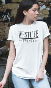 WESTLIFE-T-SHIRT-TOUR-CONCERT-2019-AGES-5-13-LADIES-UK-SIZE-8-PLUS-22