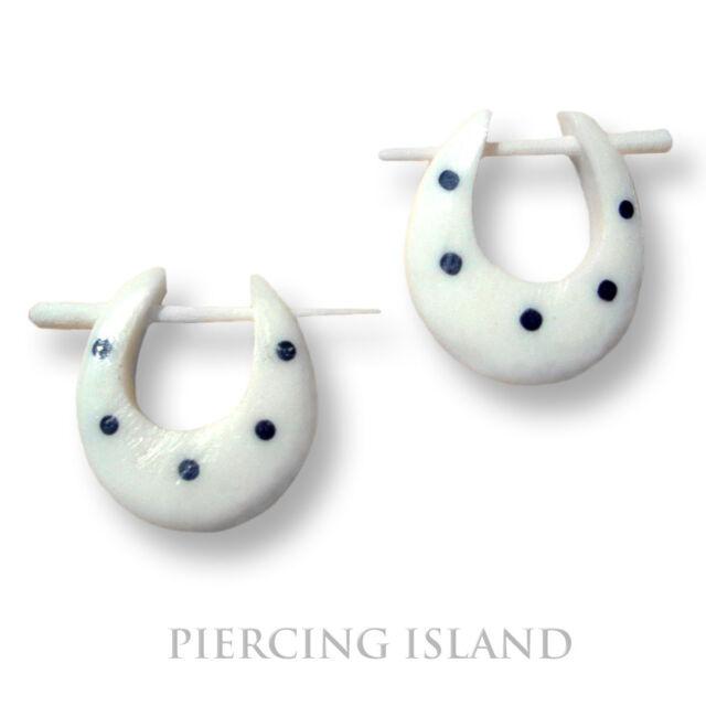 Ohrringe Gecko Creolen Goa Knochen Bone Piercing Design ER046 !