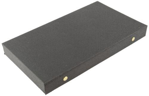 Bandeja de visualización de cuero negro caso Snap Tapa de cierre de almacenamiento de información joyas BD83-2J