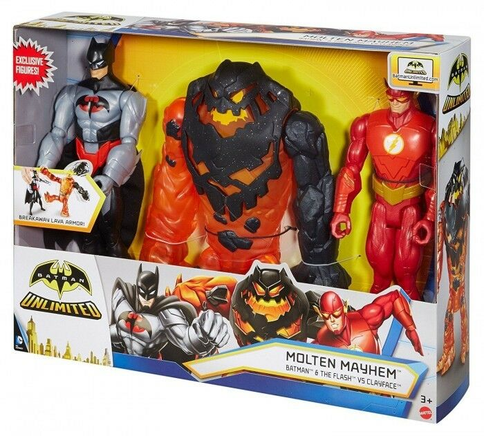 Batman Unlimited Molten Mayhem Batman and The Flash V Clayface