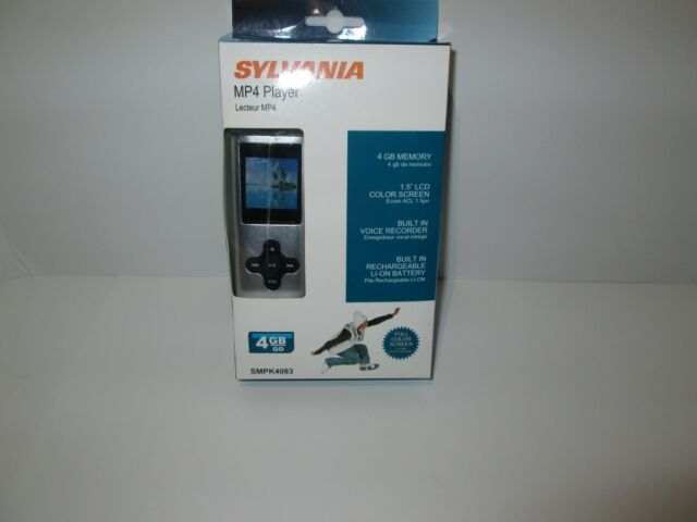 sylvania smpk4083 4gb video mp3 player with fullcolor screen ebay rh ebay com