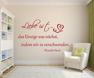 Wandtattoo Schlafzimmer +Liebe ist das Einzige++Wallsticker,Wohnzimmer,Spruch