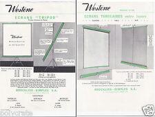 Publicité ancienne _ Westone _ Ecrans tubulaire pour projection _ Présentation