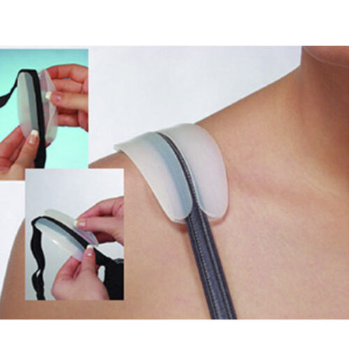Silicone Bra Straps Anti Slip Shoulder Pads Relief Pain Cushion Comfort GO9