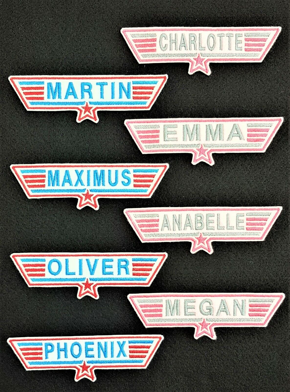 Badge Iron on or Sew On Maverick Silver Top Gun Embroidered Patch