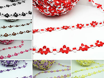 hot 2yd 13mm various Colors Polyester Lace Trim Sewing Crafts Costume Decor