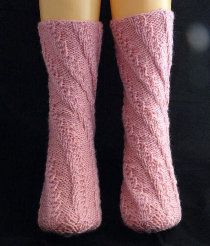 taille unique. Instructions de knitwitzuk spirale Chaussettes Tricot Motif