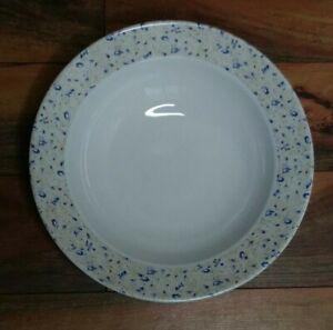 Nautica Bermuda Tablewares Portugal Vegetable Serving Bowl Taupe Blue Flowers