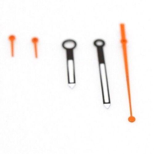Mains Set Pour Seiko 6138-0030 6138-0031 kakume avec Lum Deuxième sous min heure Orange