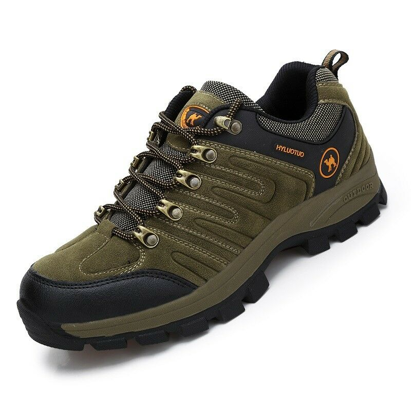 Men's walking sneakers travel casual waterproof leather comfort hiking shoes